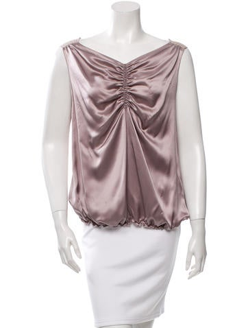 Nina Ricci Silk Sleeveless Top None