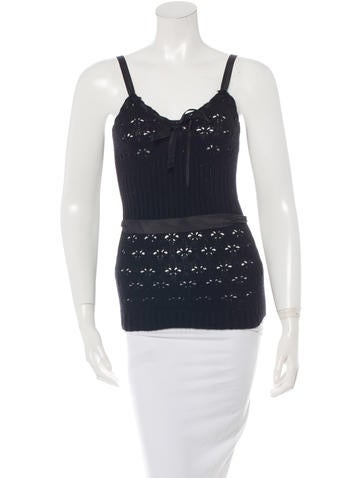 Nina Ricci Wool Sleeveless Top None