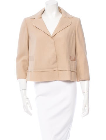 Nina Ricci Virgin Wool Two-Button Jacket None