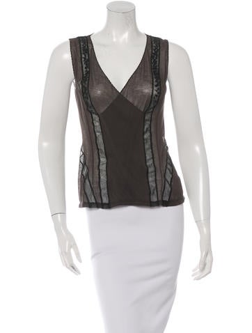 Nina Ricci Sleeveless Sheer Top
