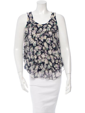 Nina Ricci Silk Floral Print Top None
