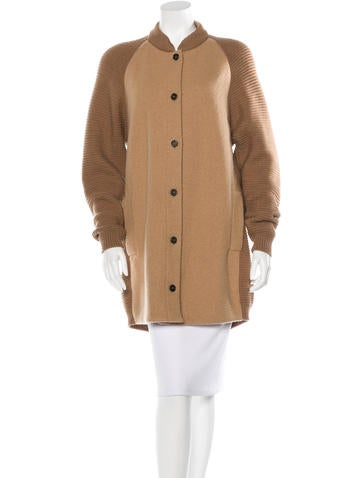 Nina Ricci Virgin Wool Knit Coat None
