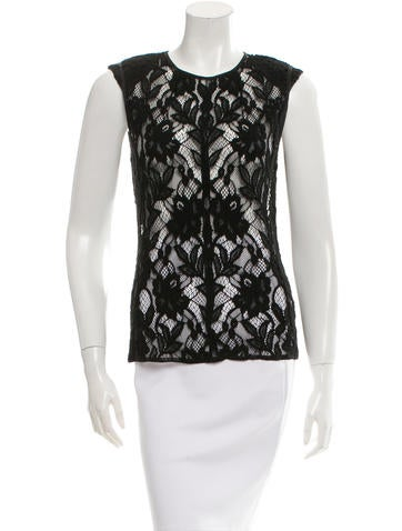 Nina Ricci Sleeveless Lace Top None