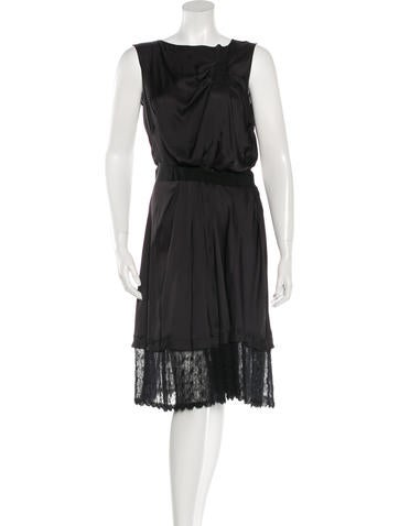 Nina Ricci Draped Knee Length Dress None