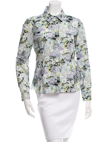 Nina Ricci Lace Accented Button-Up Top None