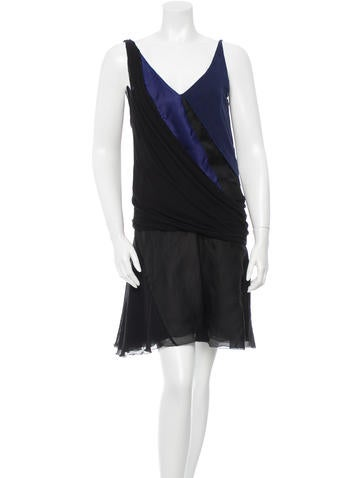 Nina Ricci Draped Colorblock Dress None