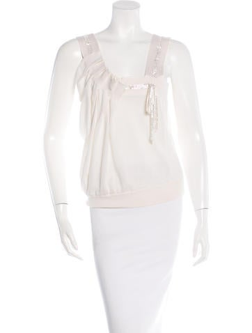 Nina Ricci Cashmere & Silk-Blend Sleeveless Top None