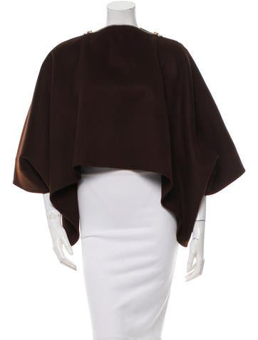 Nina Ricci Cashmere Short Sleeve Cape None