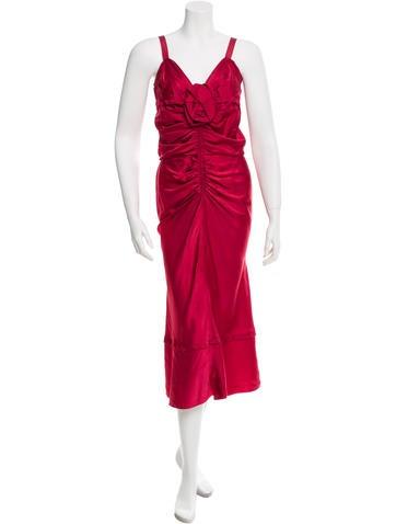 Nina Ricci Sleeveless Sheath Dress None