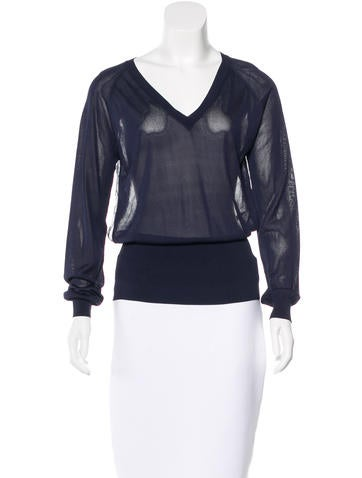 Nina Ricci Paneled Long Sleeve Top None