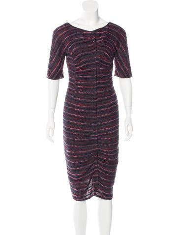 Nina Ricci Midi Bouclé Dress None