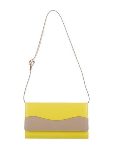 Nina Ricci Colorblock Leather Shoulder Bag
