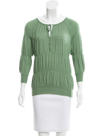 Nina Ricci Ruched Cashmere Sweater None