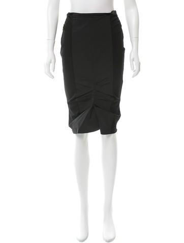 Nina Ricci Ruched Pencil Skirt None