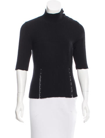 Nina Ricci Wool Rib Knit Top None