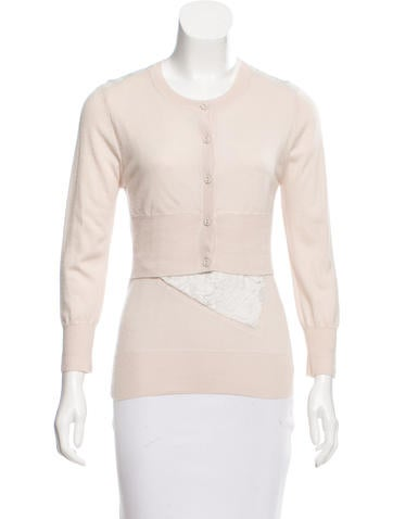 Nina Ricci Lace-Trimmed Cashmere Sweater None