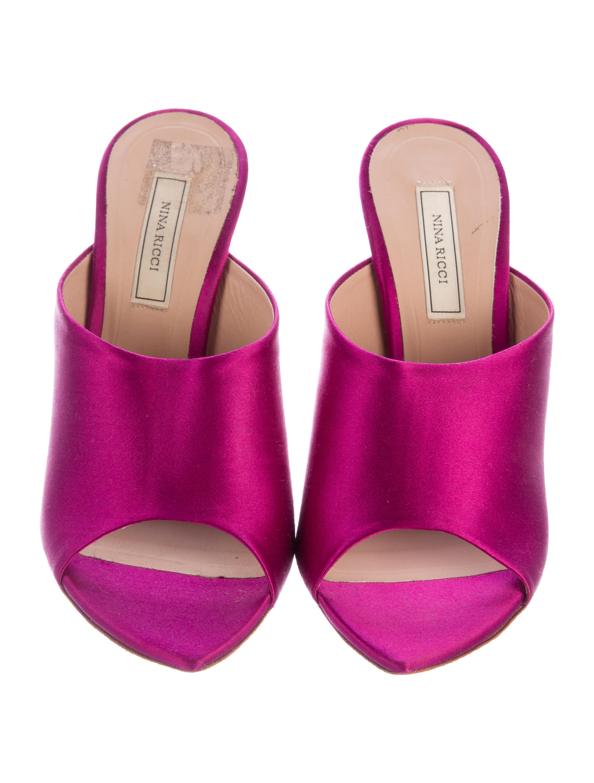 Nina Ricci Satin Slide Sandals fashion Style for sale clearance store cheap online sast cheap online online for sale order sale online AOQzwb8