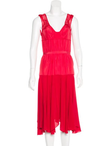 Nina Ricci Silk Midi Dress None