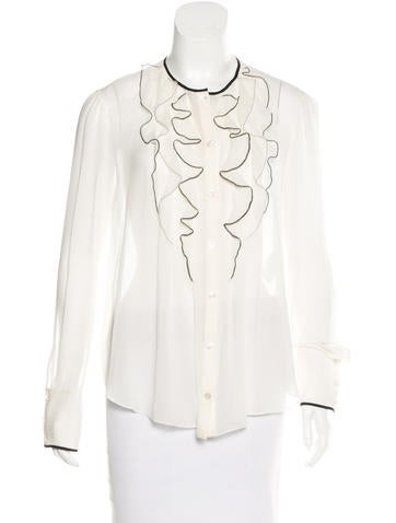 Nina Ricci Silk Long Sleeve Top None