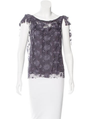 Nina Ricci Lace Sleeveless Top None