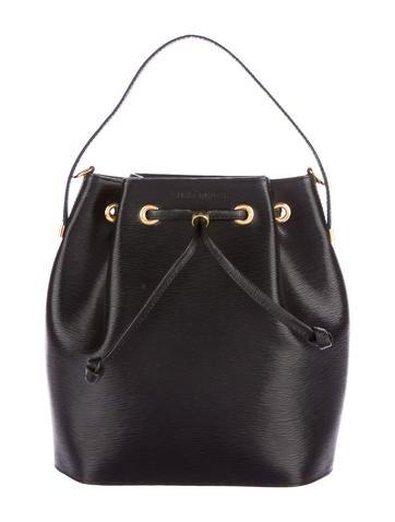 Nina Ricci Textured Leather Bucket Bag None