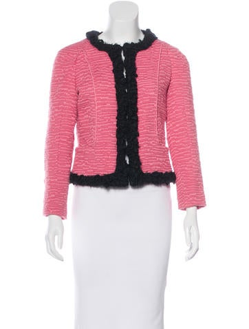 Nina Ricci Wool Long Sleeve Blazer None