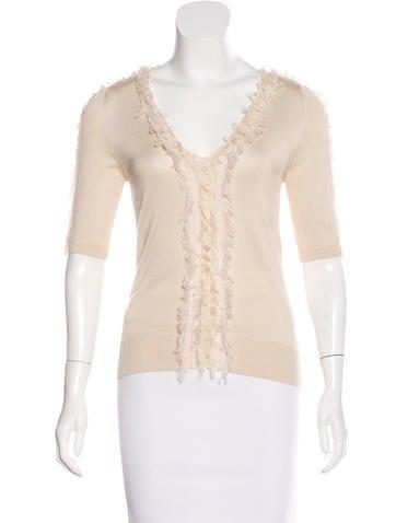 Nina Ricci Silk & Wool Sweater None