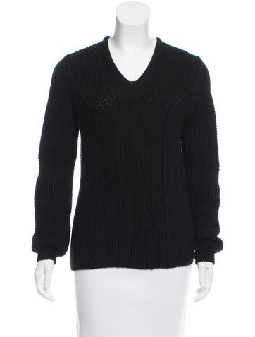 Nina Ricci Virgin Wool V-Neck Sweater None