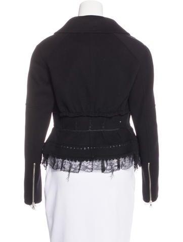 Wool & Cashmere-Blend Peplum Jacket