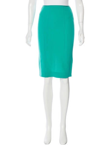 Nina Ricci Virgin Wool Pencil Skirt w/ Tags None