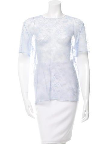 Nina Ricci Short Sleeve Lace Top None