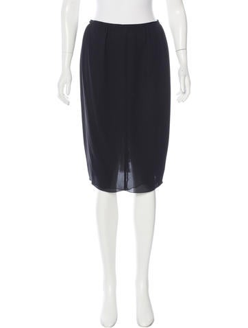 Nina Ricci Silk Pencil Skirt None