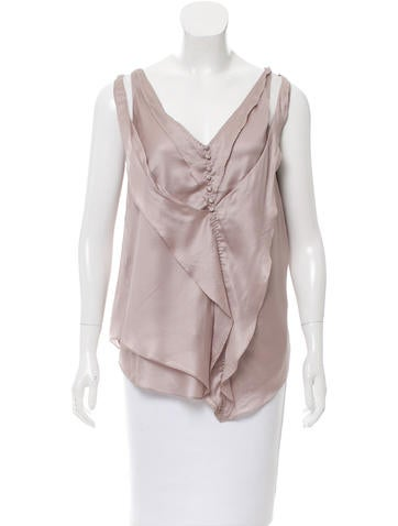 Nina Ricci Sleeveless Asymmetrical Top w/ Tags None
