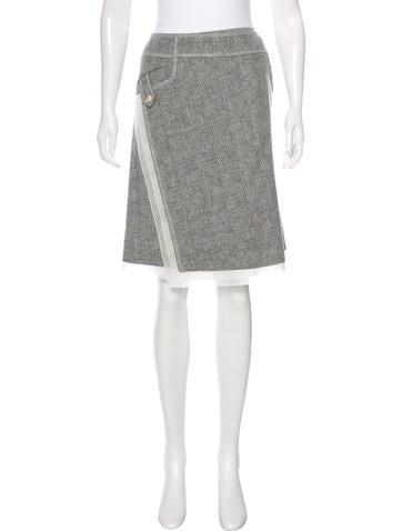 ricci plaid knee length skirt clothing nin25737