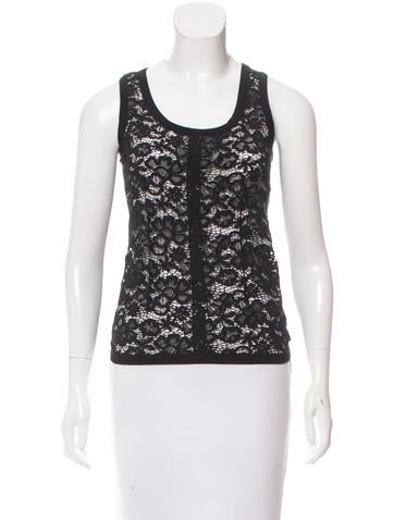Nina Ricci Sleeveless Floral Lace Top w/ Tags None