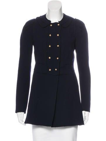 Nina Ricci Virgin Wool Double-Breasted Jacket None