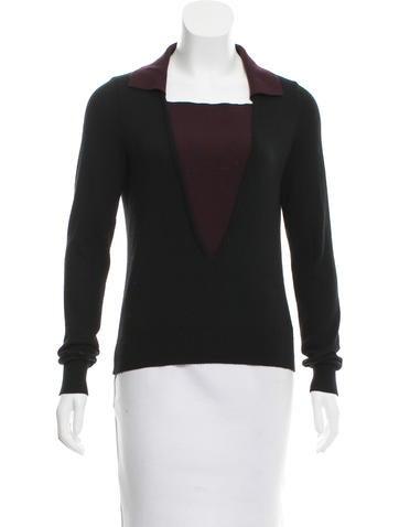 Nina Ricci Cashmere & Silk Long Sleeve Sweater None