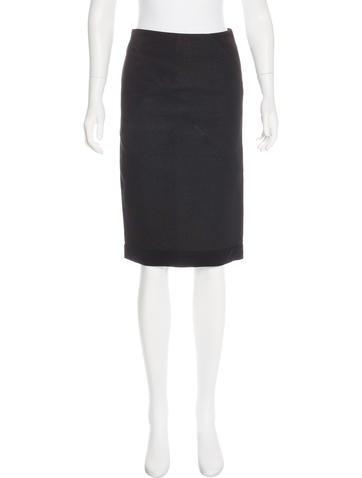 Nina Ricci Metallic-Accented Pencil Skirt None