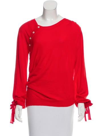 Nina Ricci Wool & Silk-Blend Lightweight Sweater w/ Tags None
