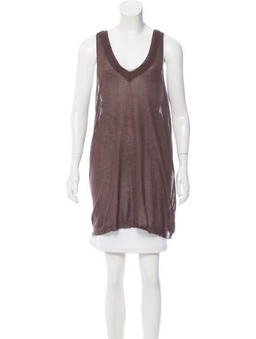 Nina Ricci Sleeveless V-Neck Top None