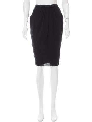 Nina Ricci Gathered Pencil Skirt None