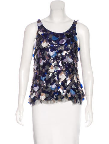 Nina Ricci Embellished Sleeveless Top None