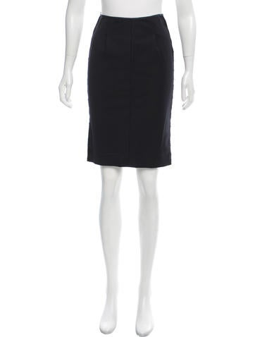 Nina Ricci Lace-Trimmed Pencil Skirt None