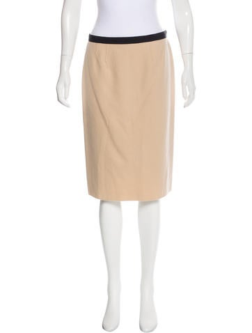 Nina Ricci Wool Pencil Skirt None