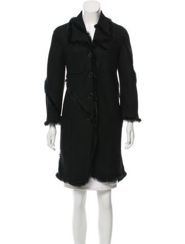 Nina Ricci Fur-Trimmed Wool Coat None