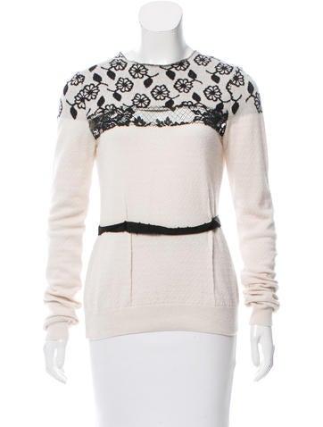 Nina Ricci Wool Intarsia Sweater None