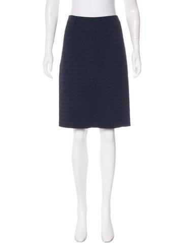 Nina Ricci Jacquard Pencil Skirt None