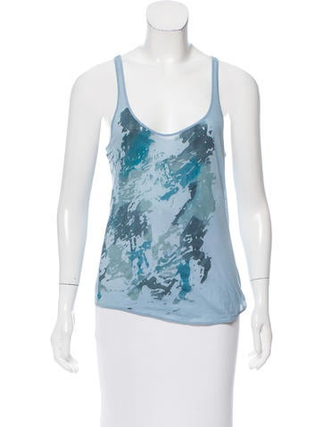 Nina Ricci Printed Sleeveless Top None