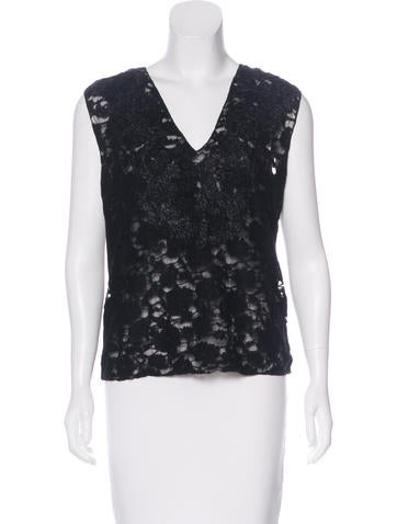 Nina Ricci Wool-Blend Sleeveless Top None