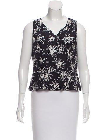 Nina Ricci Floral Silk Top None